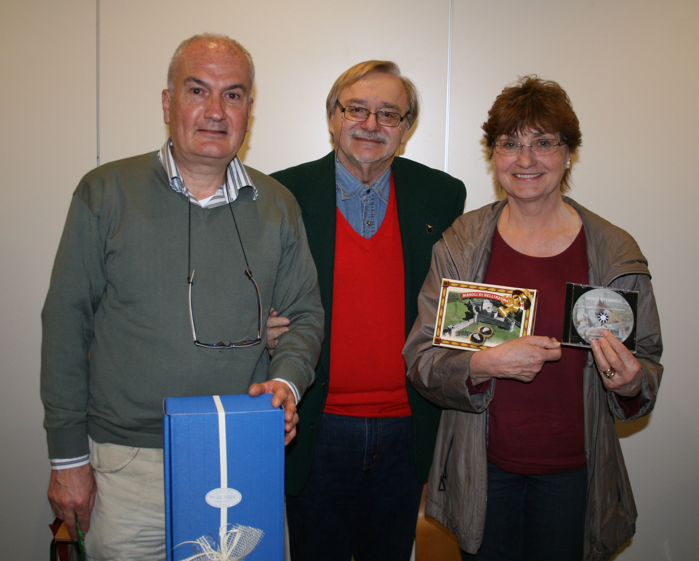 Pres. Artioli con Gianni Volonterio e la sig. Carloni
