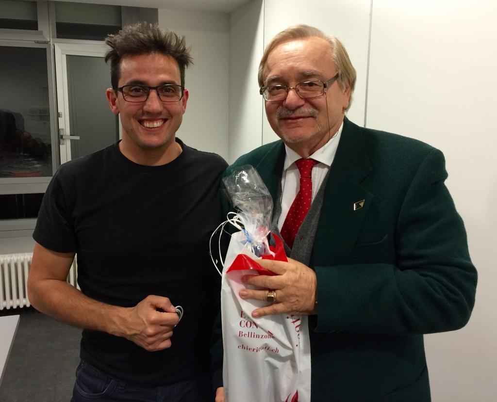 Pres. Artioli con il regista Alberto Meroni